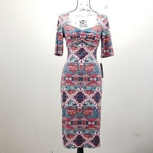 NEW Maggy London Midi Dress Size 8